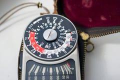 Medidor de exposição do vintage Fotos de Stock