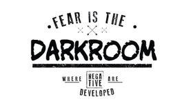 O medo é a câmara escura onde os negativos são desenvolvidos ilustração royalty free