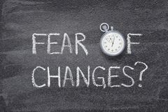 O medo das mudanças olha foto de stock