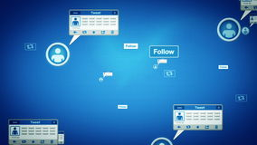 O meio social pia seguimento azul ilustração royalty free