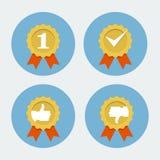 O melhor ícone da qualidade - selo da garantia Fotos de Stock Royalty Free