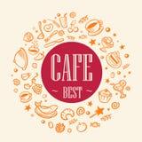 O melhor café do título Ilustração Stock