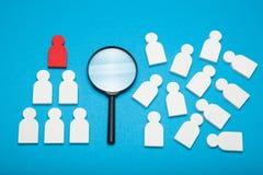 O melhor candidato do recruta, bom direito escolhe Empregador ideal do negócio imagens de stock royalty free