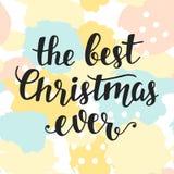 O melhor cartão do Natal nunca ilustração royalty free