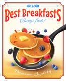 O melhor cartaz da propaganda do vintage dos cafés da manhã Imagem de Stock Royalty Free