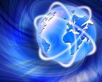 O melhor conceito de uma comunicação de ar do negócio global Imagem de Stock