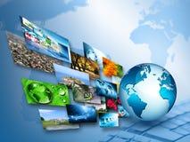 O melhor conceito do Internet do negócio global da série dos conceitos ilustração do vetor