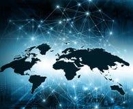 O melhor conceito do Internet do negócio global da série dos conceitos ilustração stock