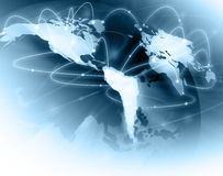 O melhor conceito do Internet do negócio global de concentrado ilustração stock