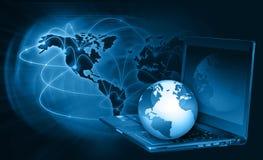 O melhor conceito do Internet do negócio global de concentrado Fotos de Stock