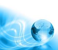 O melhor conceito do Internet do negócio global de concentrado Imagens de Stock