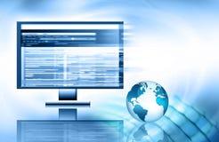 O melhor conceito do Internet do negócio global de concentrado Imagem de Stock Royalty Free