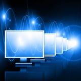 O melhor conceito do Internet do negócio global de concentrado Fotografia de Stock Royalty Free