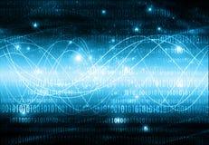 O melhor conceito do Internet do negócio global fundo tecnológico Irradia símbolos Wi-Fi, do Internet, televisão Foto de Stock
