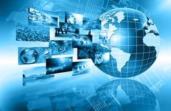 O melhor conceito do Internet do negócio global Globo Imagens de Stock
