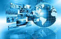 O melhor conceito do Internet do negócio global Globo Imagem de Stock