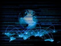 O melhor conceito do Internet do negócio global Globo Foto de Stock Royalty Free