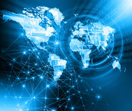 O melhor conceito do Internet do negócio global Globo Imagem de Stock Royalty Free