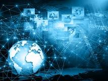 O melhor conceito do Internet do negócio global Globo Fotografia de Stock Royalty Free