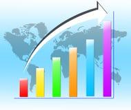 O melhor conceito do negócio do negócio global Foto de Stock Royalty Free