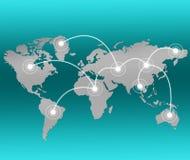 O melhor conceito do negócio do negócio global Fotos de Stock Royalty Free
