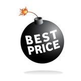 O melhor ícone do vetor do preço Fotografia de Stock