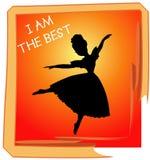 O melhor desempenho da dança ilustração royalty free