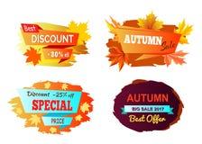 O melhor disconto Autumn Sale Vetora Illustration Fotos de Stock