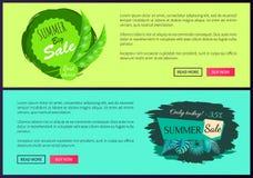 O melhor disconto bem escolhido Promo da venda de um verão de 35 por cento ilustração do vetor