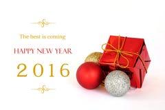 O melhor está vindo, a bandeira 2016 do ano novo feliz Foto de Stock