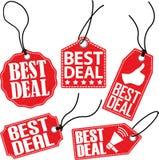 O melhor grupo da etiqueta do negócio, ilustração do vetor Foto de Stock Royalty Free