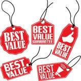 O melhor grupo da etiqueta do valor, ilustração do vetor Foto de Stock