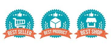 O melhor grupo de elemento bem escolhido da compra do crachá Imagem de Stock Royalty Free