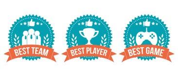 O melhor grupo de elemento bem escolhido do jogo do crachá Imagens de Stock