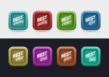 O melhor grupo de etiqueta Imagens de Stock