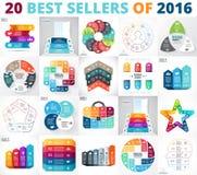 O melhor grupo do infographics do círculo do vetor Diagramas do negócio, gráficos das setas, apresentações startup e cartas Opçõe Foto de Stock