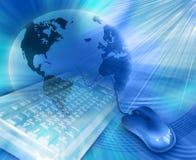 O melhor illustratio global de uma comunicação do Internet ilustração stock