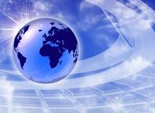 O melhor illustratio global de uma comunicação do Internet Fotografia de Stock Royalty Free