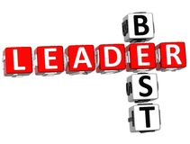 O melhor líder Crossword Foto de Stock Royalty Free