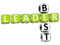 O melhor líder Crossword Imagens de Stock