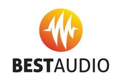 O melhor logotipo audio Imagem de Stock