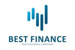 O melhor logotipo da finança Fotos de Stock