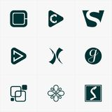 o melhor logotipo do ícone ajustou-se para seu negócio Imagem de Stock
