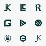 o melhor logotipo do ícone ajustou-se para seu negócio Imagens de Stock