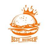 O melhor logotipo do gráfico dos hamburgueres ilustração do vetor