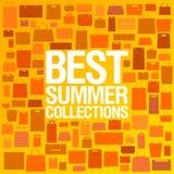 O melhor molde do projeto das coleções do verão. Imagens de Stock Royalty Free