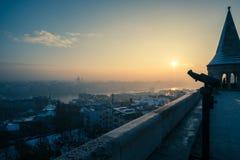 O melhor nascer do sol de Budapest Fotografia de Stock Royalty Free