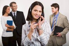 O melhor operador de telefone Fotografia de Stock