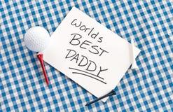 O melhor paizinho dos mundos Imagem de Stock Royalty Free