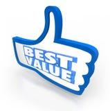 O melhor polegar do valor acima da qualidade superior da contagem da avaliação Fotografia de Stock
